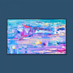 Tran Tuan Abstract Beautiful Day 2021 135 x 80 x 5 cm Acrylic on Canvas Painting