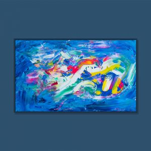 Tran Tuan Abstract Childhood Games 2021 135 x 80 x 5 cm Acrylic on Canvas Painting