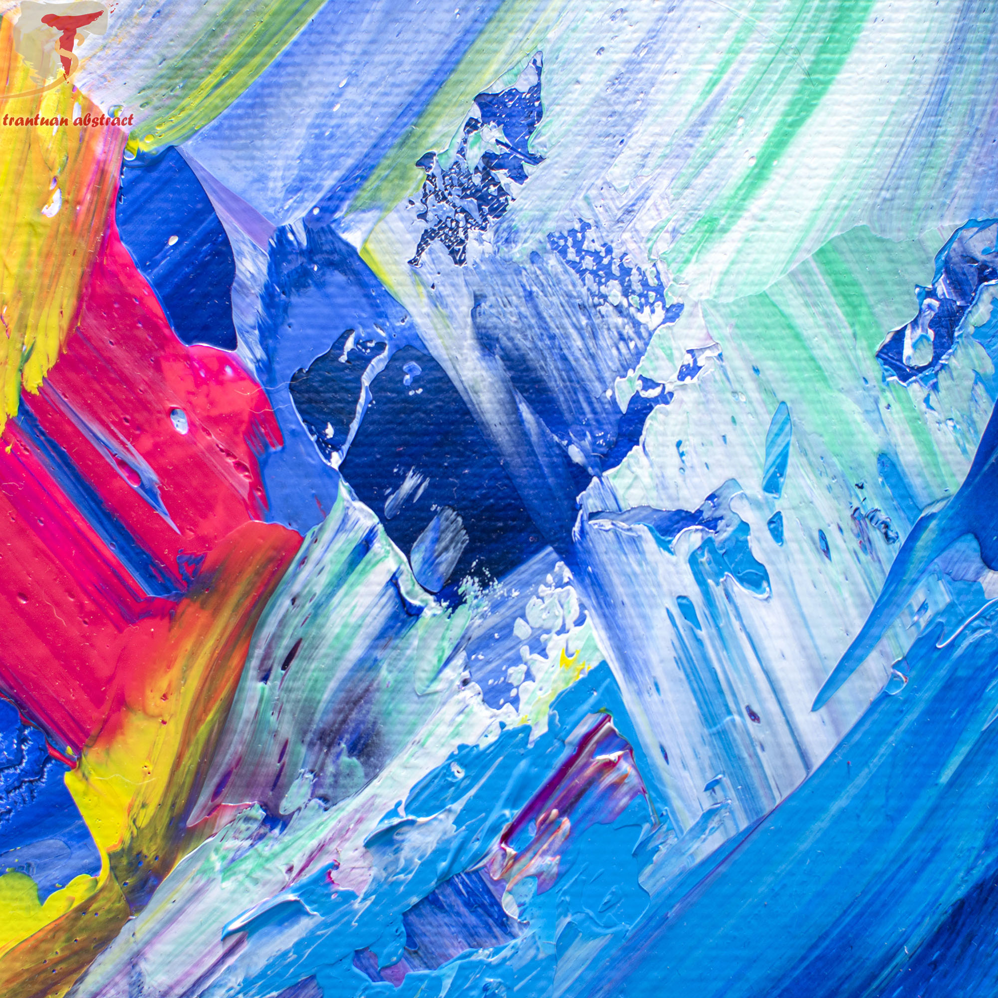Tran Tuan Abstract Childhood Games 2021 135 x 80 x 5 cm Acrylic on Canvas Painting Detail