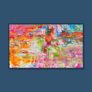 Tran Tuan Abstract Fairyland 135 x 80 x 5 cm Acrylic on Canvas Painting