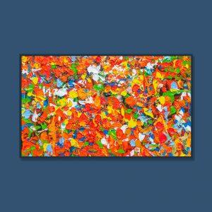 Tran Tuan Abstract Flower Dream 2021 80 x 135 x 5 cm Acrylic on Canvas Painting