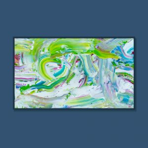 Tran Tuan Abstract Green Day 2021 135 x 80 x 5 cm Acrylic on Canvas Painting