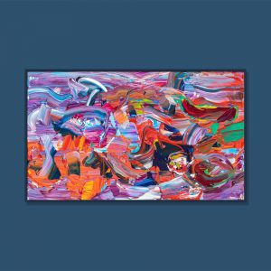 Tran Tuan Abstract Melody of Love 135 x 80 x 5 cm Acrylic on Canvas Painting