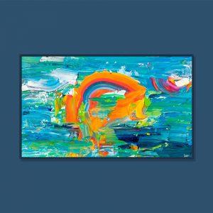 Tran Tuan Abstract My Sun 2021 135 x 80 x 5 cm Acrylic on Canvas Painting
