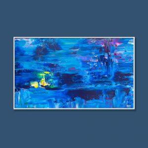 Tran Tuan Abstract Mysterious Stillness 2021 135 x 80 x 5 cm Acrylic on Canvas Painting