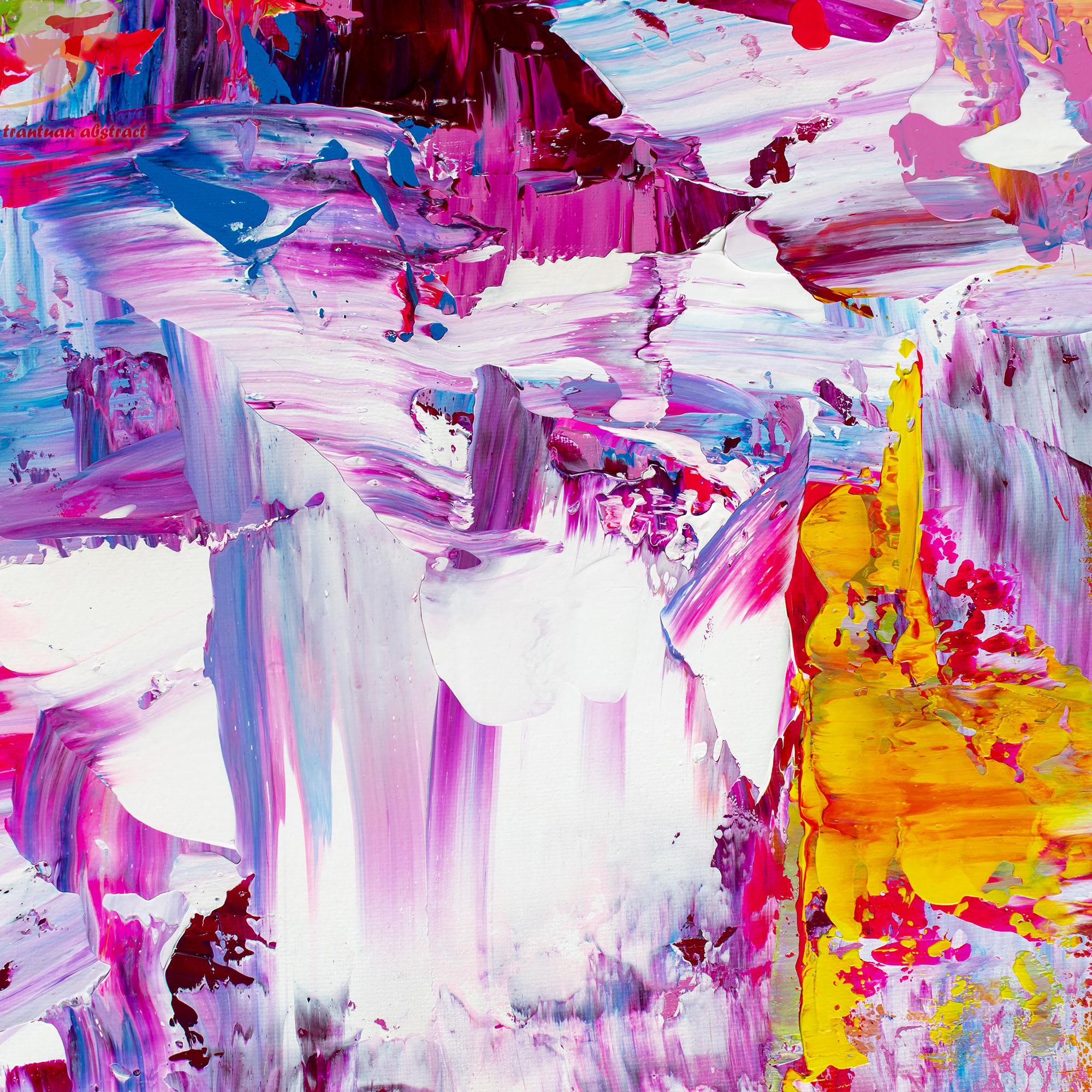 Tran Tuan Abstract Sparkling Sunlight 2021 135 x 80 x 5 cm Acrylic Painting Detail