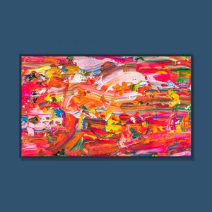 Tran Tuan Abstract Summer Wind 2021 135 x 80 x 5 cm Acrylic on Canvas Painting