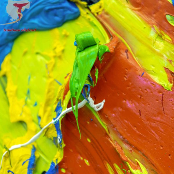 Tran Tuan Abstract Symphony of the Universe 2020 200 x 450 x 15 cm Oil on Canvas Painting Detail (2)