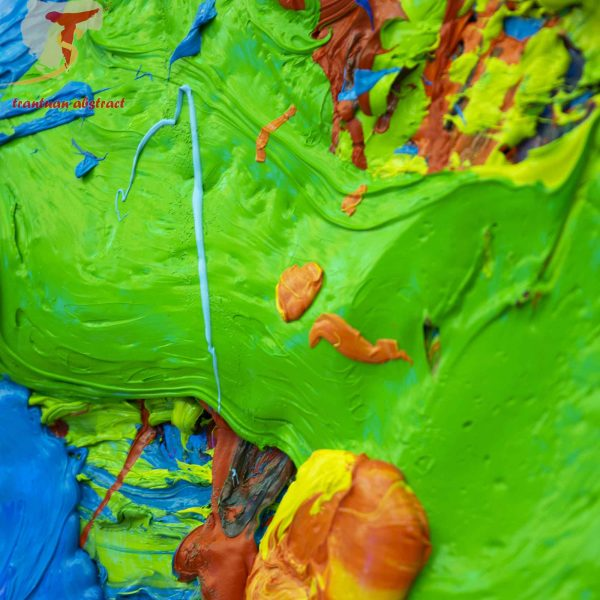 Tran Tuan Abstract Symphony of the Universe 2020 200 x 450 x 15 cm Oil on Canvas Painting Detail (5)