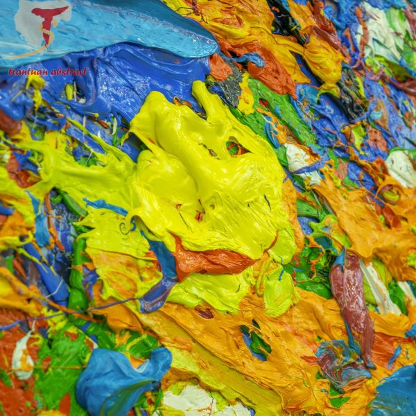 Tran Tuan Abstract Symphony of the Universe 2020 200 x 450 x 15 cm Oil on Canvas Painting Detail (7)
