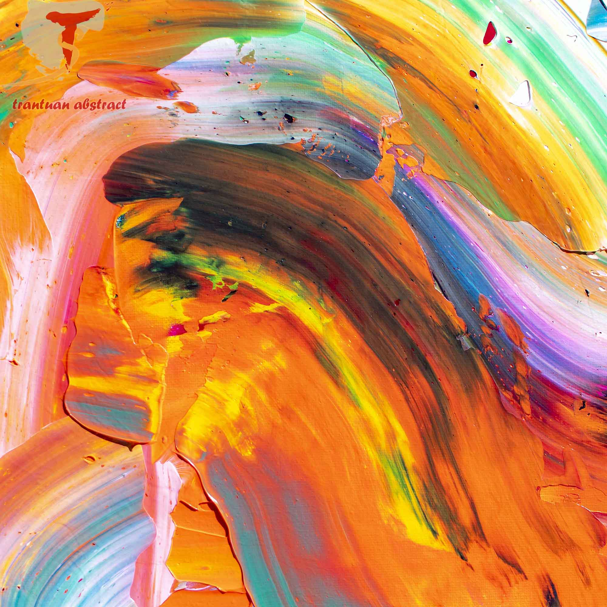 Tran Tuan Abstract The Return of Beautiful Memories 2021 135 x 80 x 5 cm Acrylic on Canvas Painting Detail