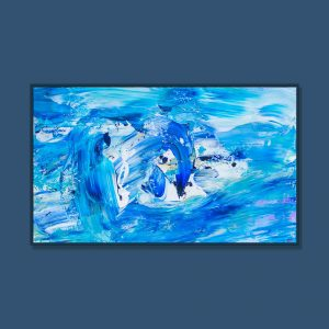 Tran Tuan Abstract Adventure of Blue Soul 2021 135 x 80 x 5 cm Acrylic on Canvas Painting