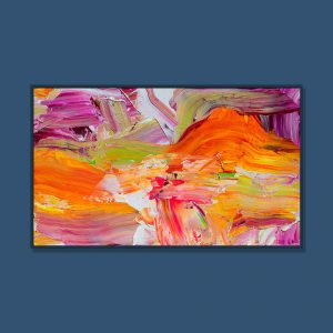Tran Tuan Abstract Another Space 135 x 80 x 5 cm Acrylic on Canvas Painting