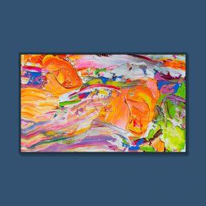 Tran Tuan Abstract Autumn 2021 135 x 80 x 5 cm Acrylic on Canvas Painting