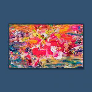 Tran Tuan Abstract Blooming Season 2021 135 x 80 x 5 cm Acrylic on Canvas Painting