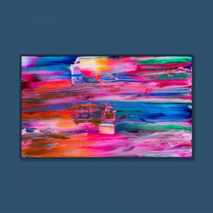 Tran Tuan Abstract Childhood Home 2021 135 x 80 x 5 cm Acrylic on Canvas Painting