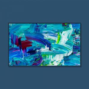 Tran Tuan Abstract Currents of Time 2021 135 x 80 x 5 cm Acrylic on Canvas Painting
