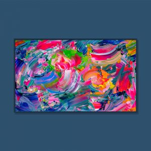 Tran Tuan Abstract Dance of Lotus 135 x 80 x 5 cm Acrylic on Canvas Painting