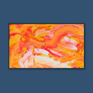 Tran Tuan Abstract Dance of Summer 2021 135 x 80 x 5 cm Acrylic on Canvas Painting