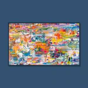 Tran Tuan Abstract Eternal Joy 135 x 80 x 5 cm Acrylic on Canvas Painting