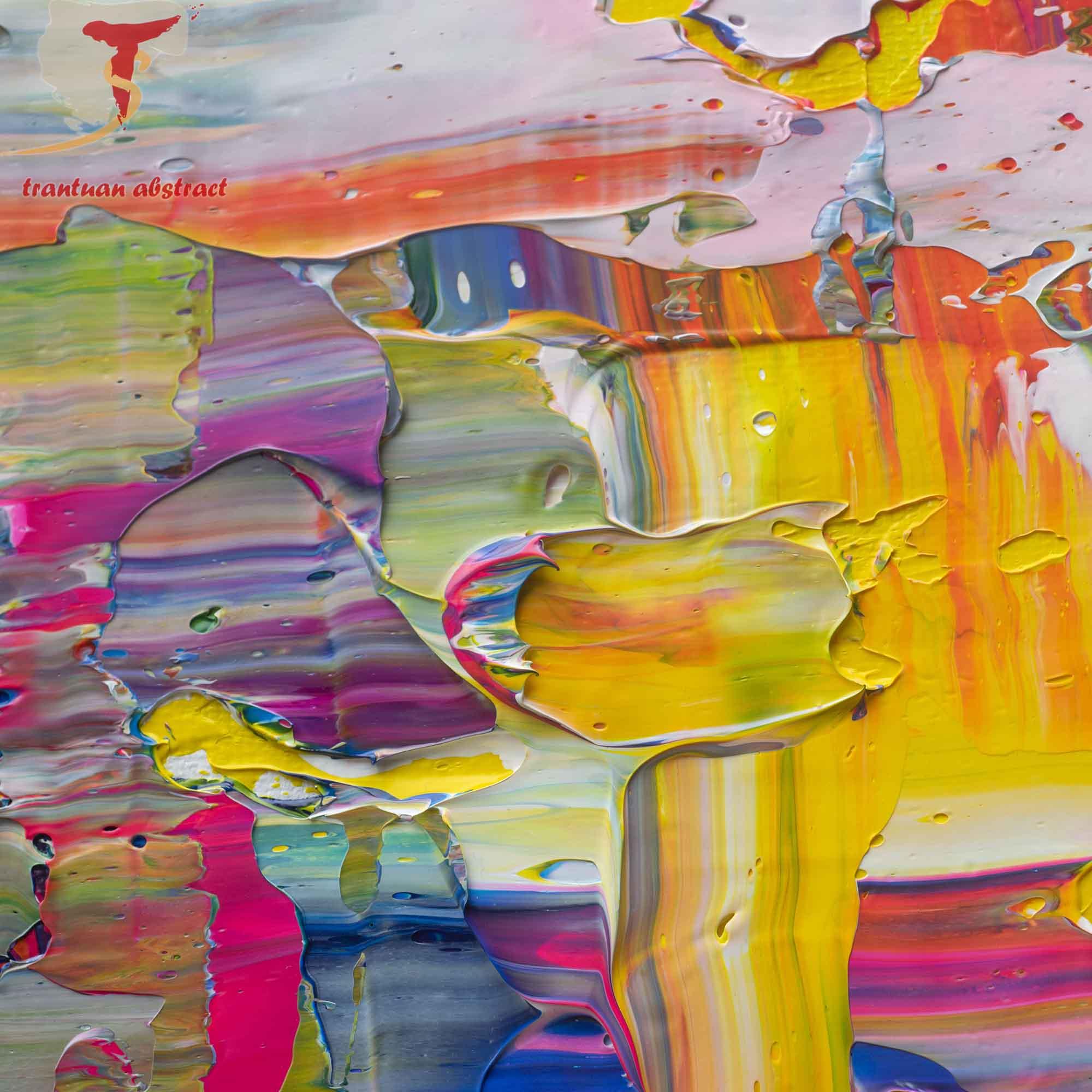 Tran Tuan Abstract Eternal Joy 135 x 80 x 5 cm Acrylic on Canvas Painting Detail (1)
