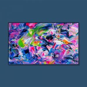 Tran Tuan Abstract Fireworks Night 2021 135 x 80 x 5 cm Acrylic on Canvas Painting