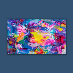 Tran Tuan Abstract Flying to the Light 135 x 80 x 5 cm Acrylic on Canvas Painting