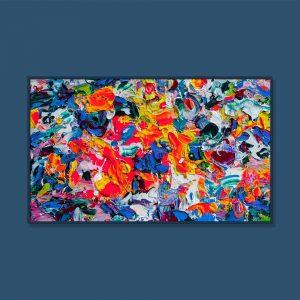 Tran Tuan Abstract Garden of Love 2021 135 x 80 x 5 cm Acrylic on Canvas Painting