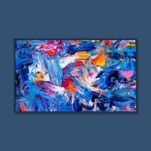 Tran Tuan Abstract Lantern Festival 2021 135 x 80 x 5 cm Acrylic on Canvas