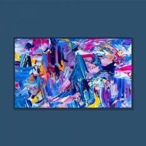Tran Tuan Abstract Love and Sun 2021 95 x 68 x 5 cm Acrylic on Canvas Painting