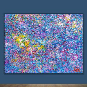 Tran Tuan Abstract Melody of Stars 2020 150 x 200 x 15 cm Oil on Canvas Painting