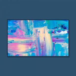Tran Tuan Abstract Moonlight 2021 135 x 80 x 5 cm Acrylic on Canvas Painting