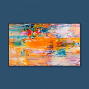 Tran Tuan Abstract Remote Beauty 2021 135 x 80 x 5 cm Acrylic on Canvas Painting