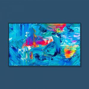 Tran Tuan Abstract Rhythm of Nature 2021 135 x 80 x 5 cm Acrylic on Canvas Painting