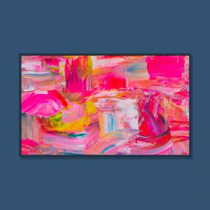 Tran Tuan Abstract Rose of Love 135 x 80 x 5 cm Acrylic on Canvas Painting