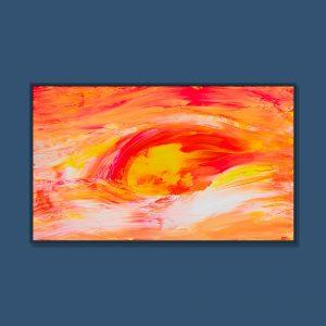 Tran Tuan Abstract Sky of Love 2021 135 x 80 x 5 cm Acrylic on Canvas Painting