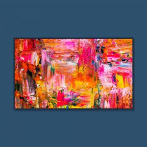 Tran Tuan Abstract Space of Happiness 2021 135 x 80 x 5 cm Acrylic on Canvas Painting