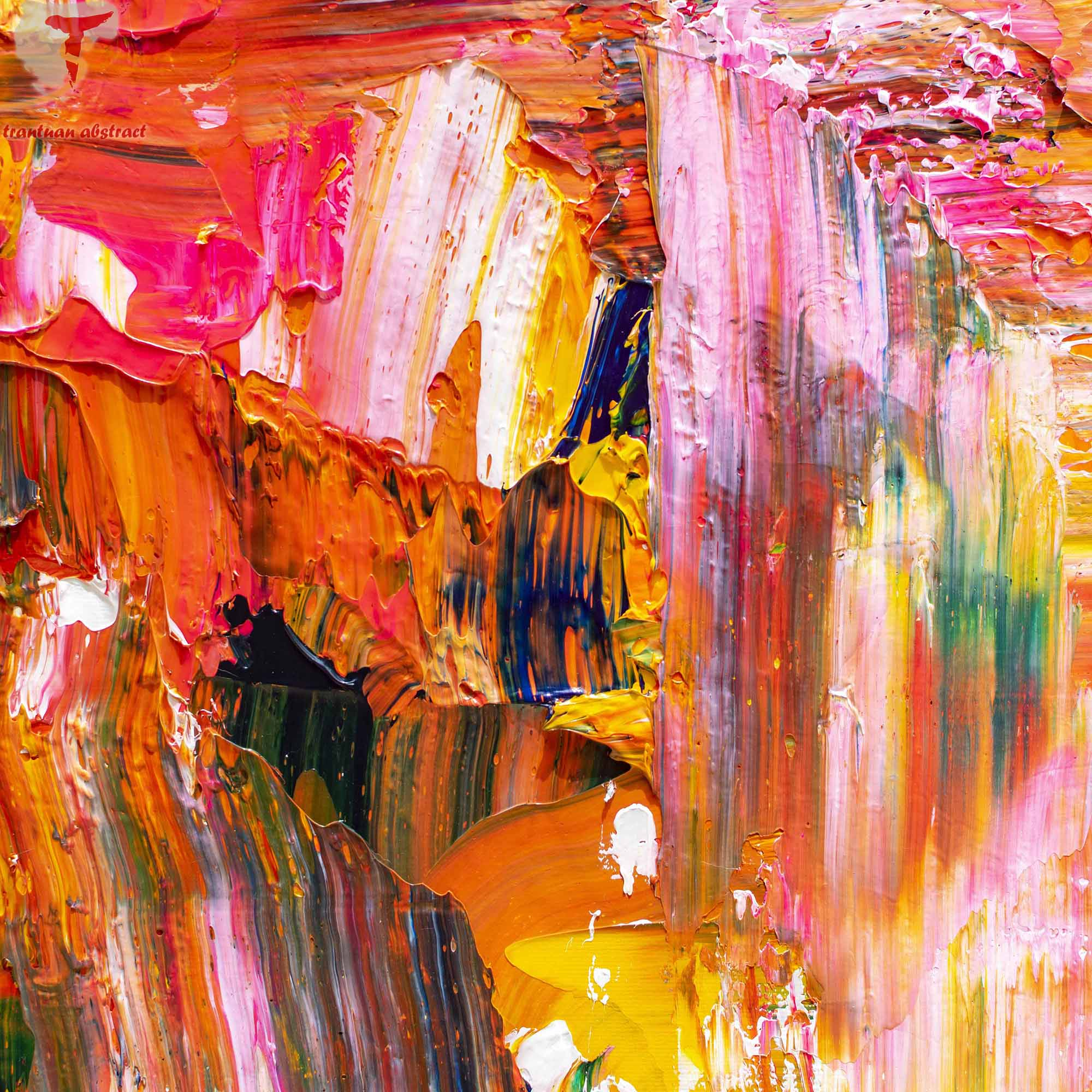 Tran Tuan Abstract Space of Happiness 2021 135 x 80 x 5 cm Acrylic on Canvas Painting Detail