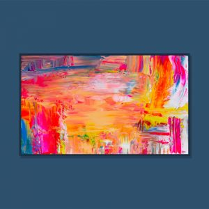 Tran Tuan Abstract Summer Vibes 2021 95 x 68 x 5 cm Acrylic on Canvas Painting