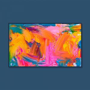 Tran Tuan Abstract Sweet Colors 2021 135 x 80 x 5 cm Acrylic on Canvas Painting