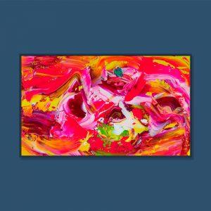 Tran Tuan Abstract Sweet Love 2021 135 x 80 x 5 cm Acrylic on Canvas Painting