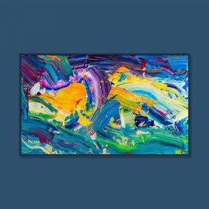 Tran Tuan Abstract The Light 2021 135 x 80 x 5 cm Acrylic on Canvas Painting