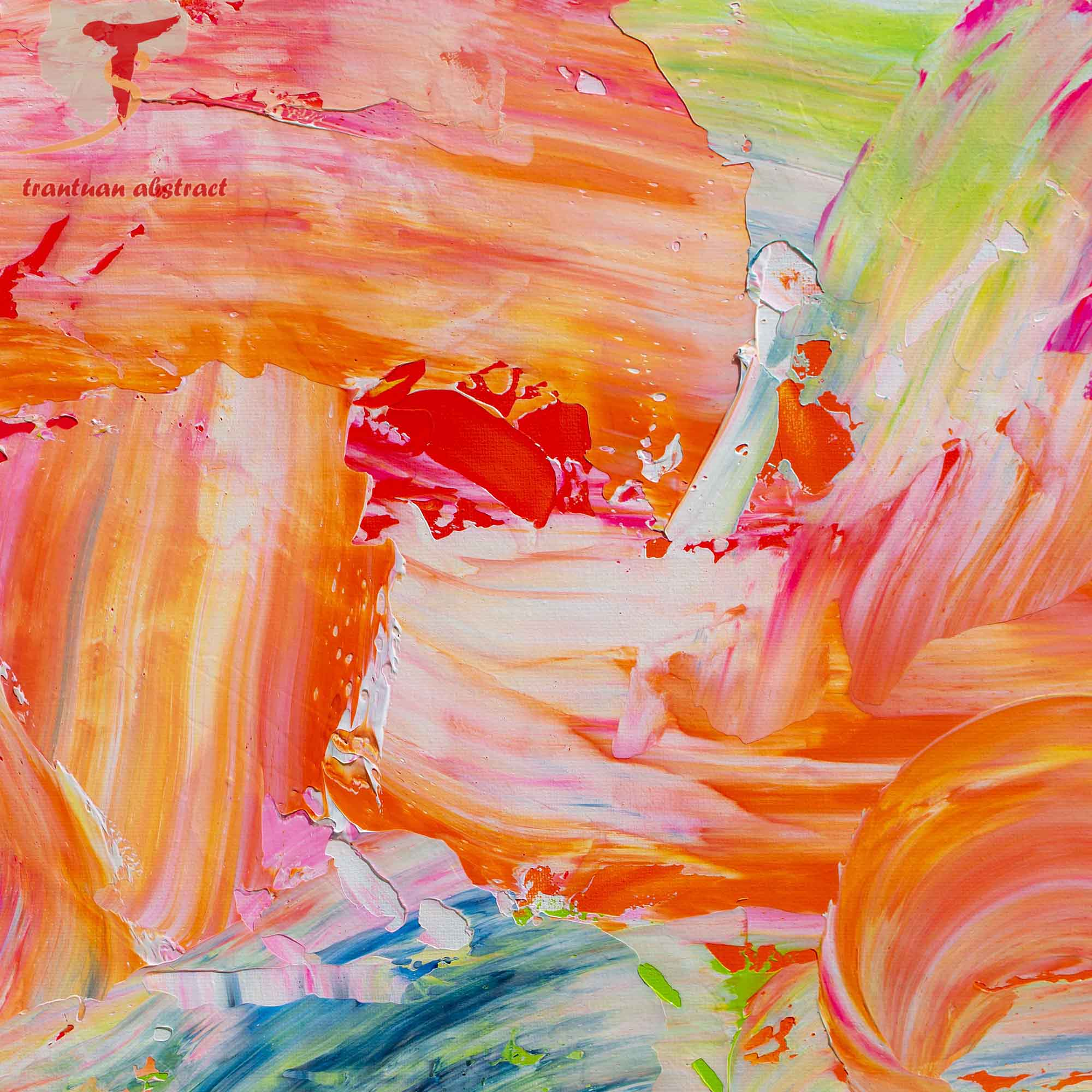 Tran Tuan Abstract Transparent Cloud 135 x 80 x 5 cm Acrylic on Canvas Painting Detail s (2)