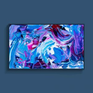 Tran Tuan Abstract Affectionate Sentiments 2021 135 x 80 x 5 cm Acrylic on Canvas Painting