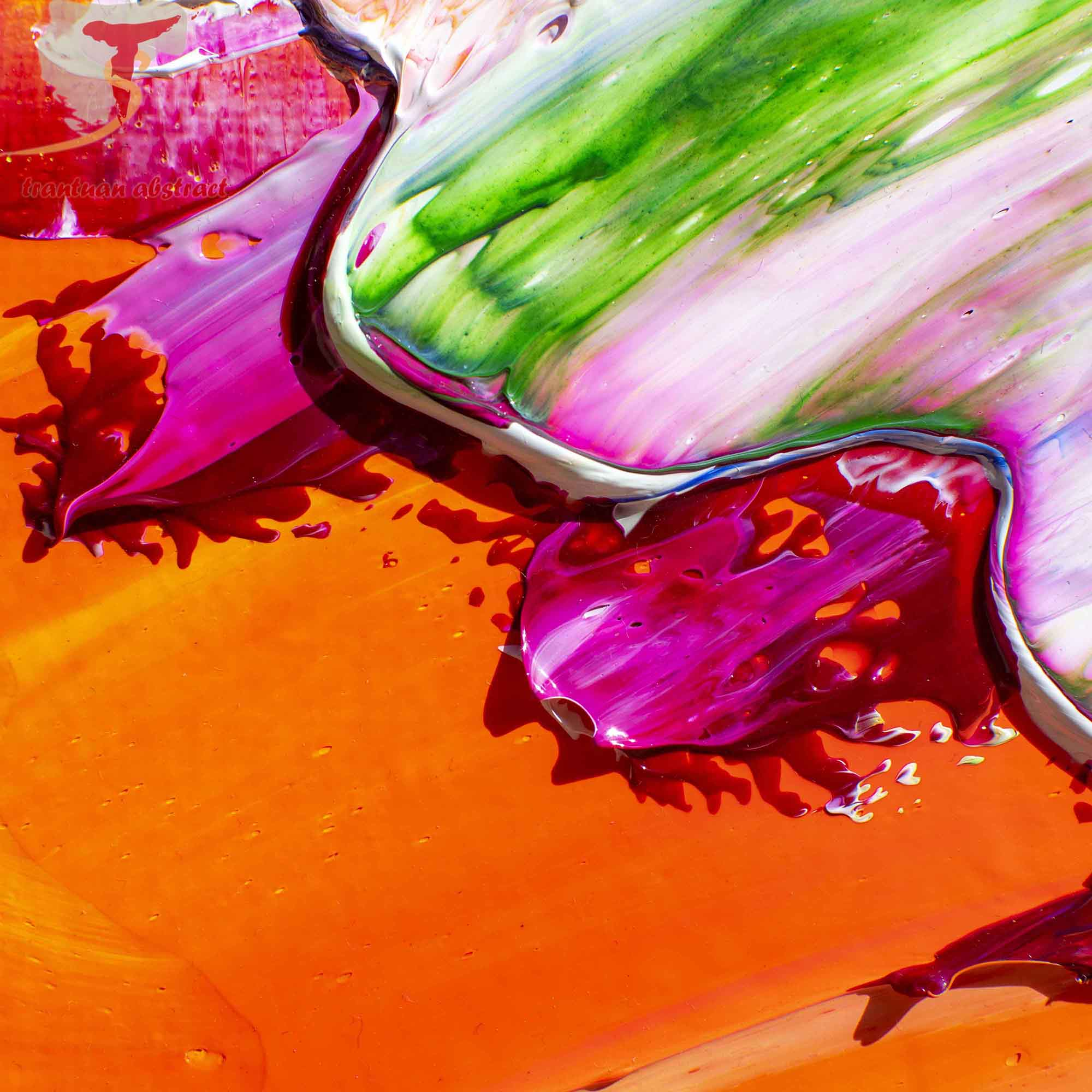 Tran Tuan Abstract Colors of Sunlight 2021 135 x 80 x 5 cm Acrylic on Canvas Painting Detail s (32)