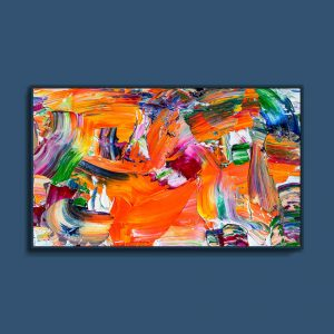 Tran Tuan Abstract Colors of Sunlight 2021 135 x 80 x 5 cm Acrylic on Canvas Painting