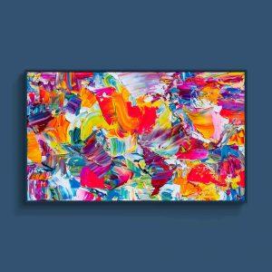 Tran Tuan Abstract Intense Love 2021 135 x 80 x 5 cm Acrylic on Canvas Painting