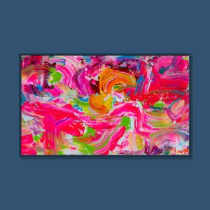 Tran Tuan Abstract Joyful World 2021 135 x 80 x 5 cm Acrylic on Canvas Painting