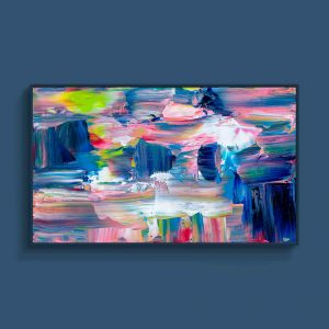 Tran Tuan Abstract Light 2021 135 x 80 x 5 cm Acrylic on Canvas Painting