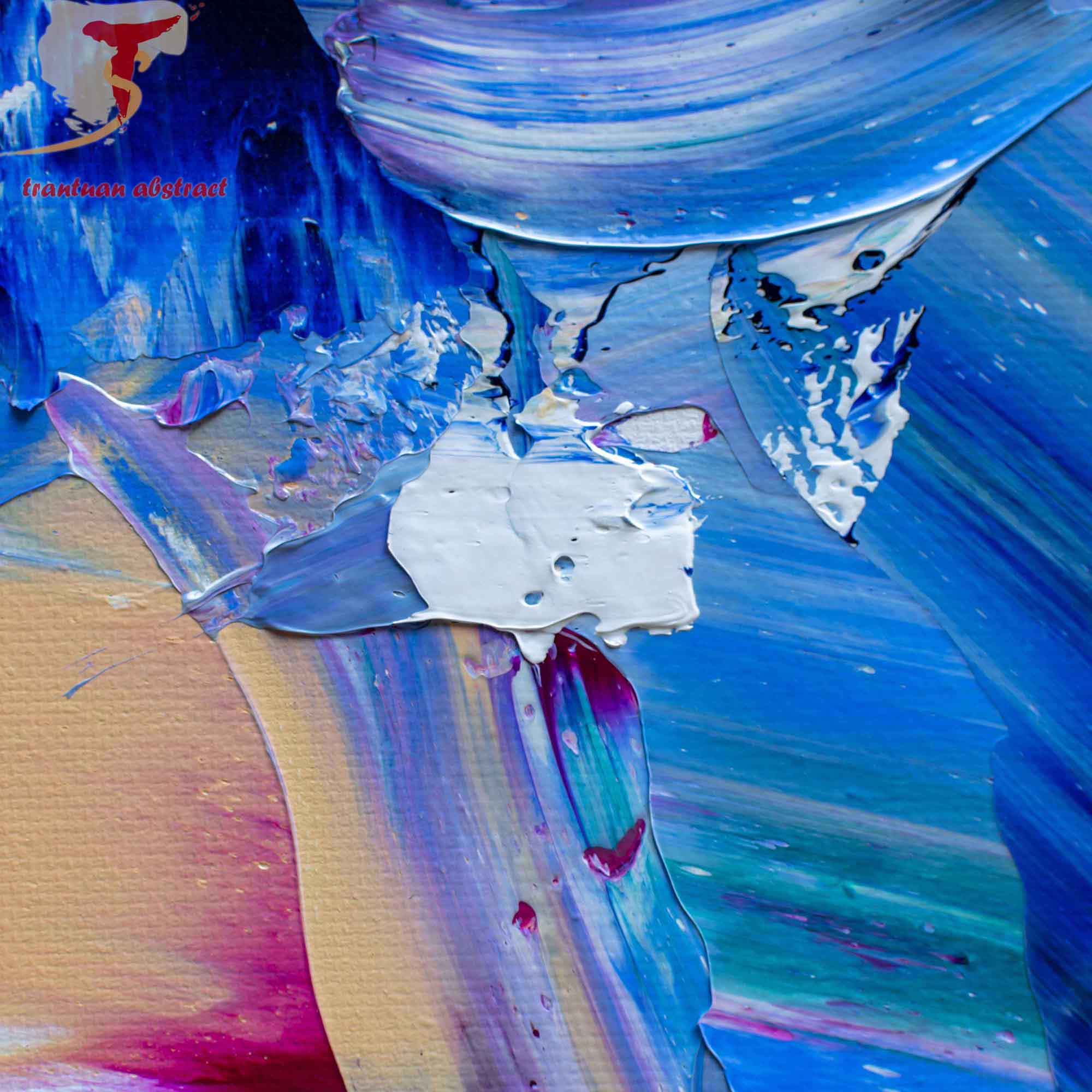Tran Tuan Abstract Melody of Light 2021 135 x 80 x 5 cm Acrylic on Canvas Painting Detail s (25)